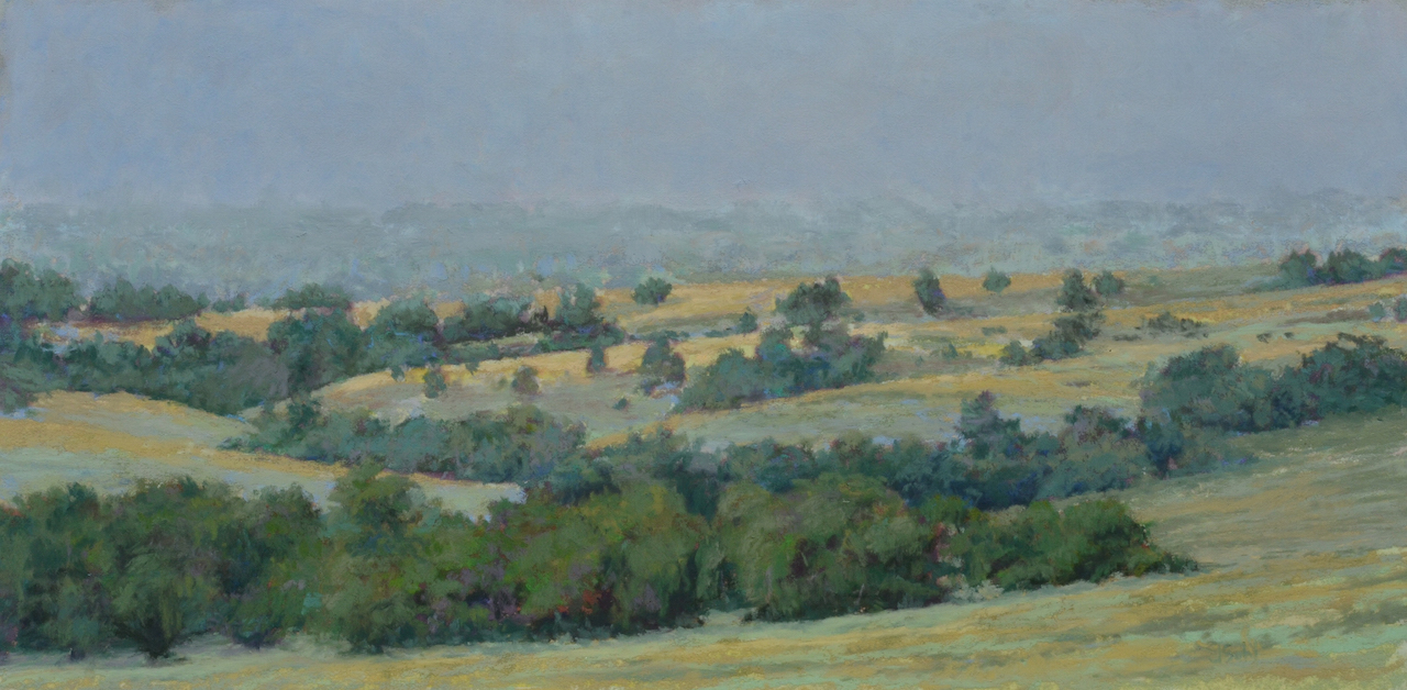 """Ft. Meade Foothills""  9x18 pastel"