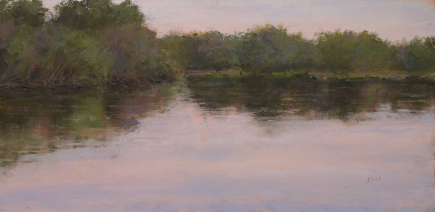 """Before the Float""   12x6  pastel"