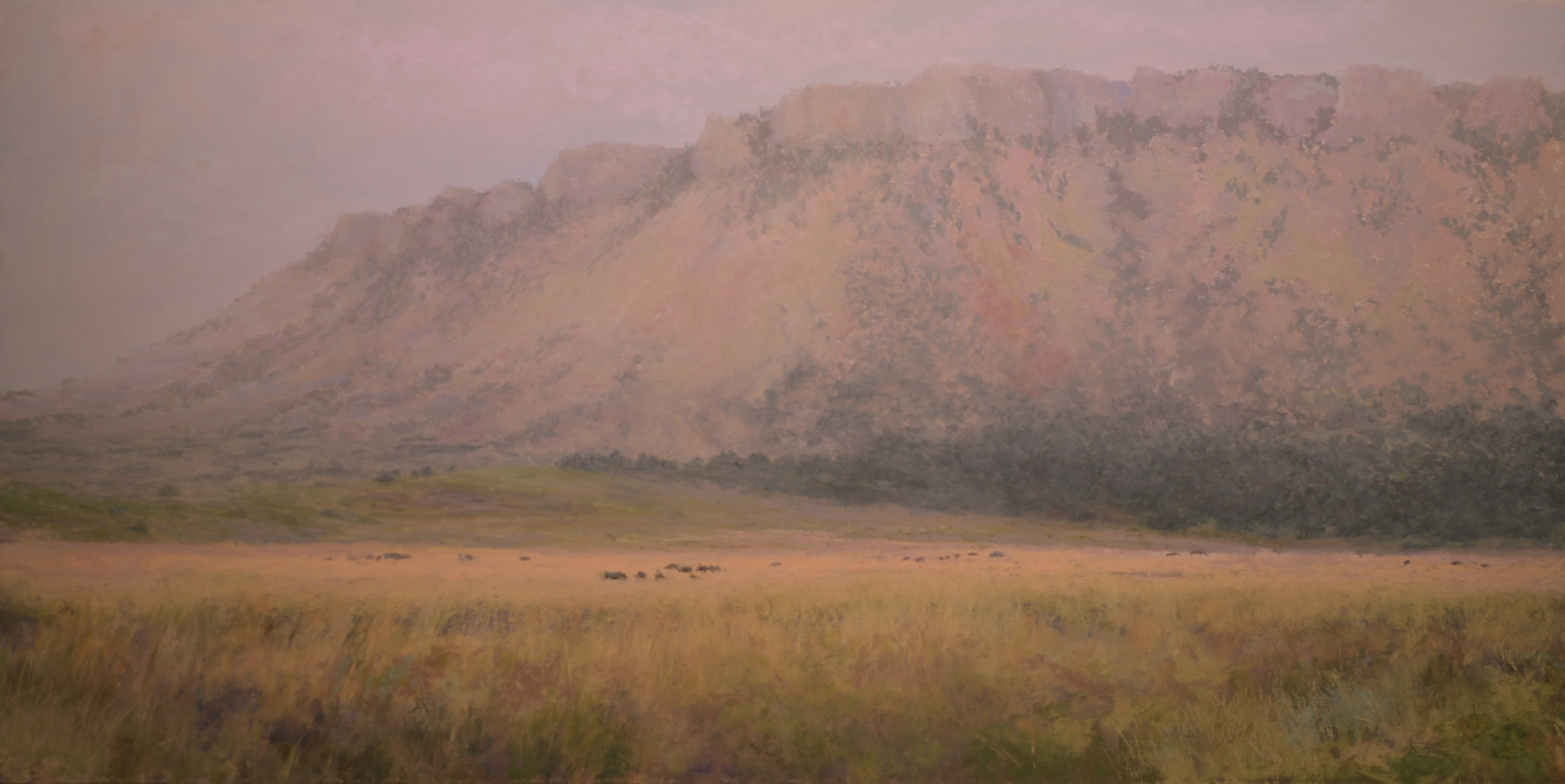 """East of Livingston""   24x12 pastel"