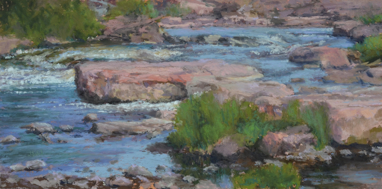 """Above the Falls""   12x6 pastel"