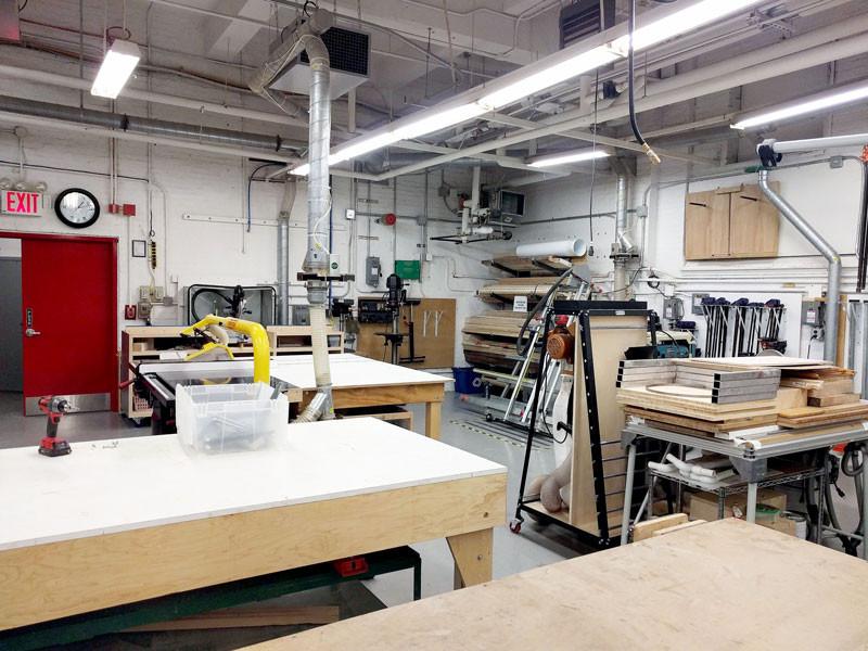 NYU Steinhardt School sculpture shop