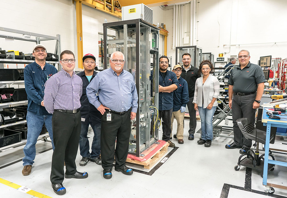 The ABB team that developed the new Power Master together with Ecogate.