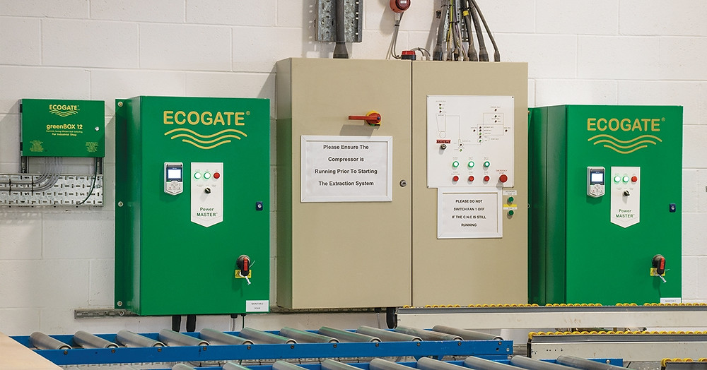 Ecogate Power Master Variable Frequency Drives (VFDs) and greenBOX 12 controllers at C W Fields & Son