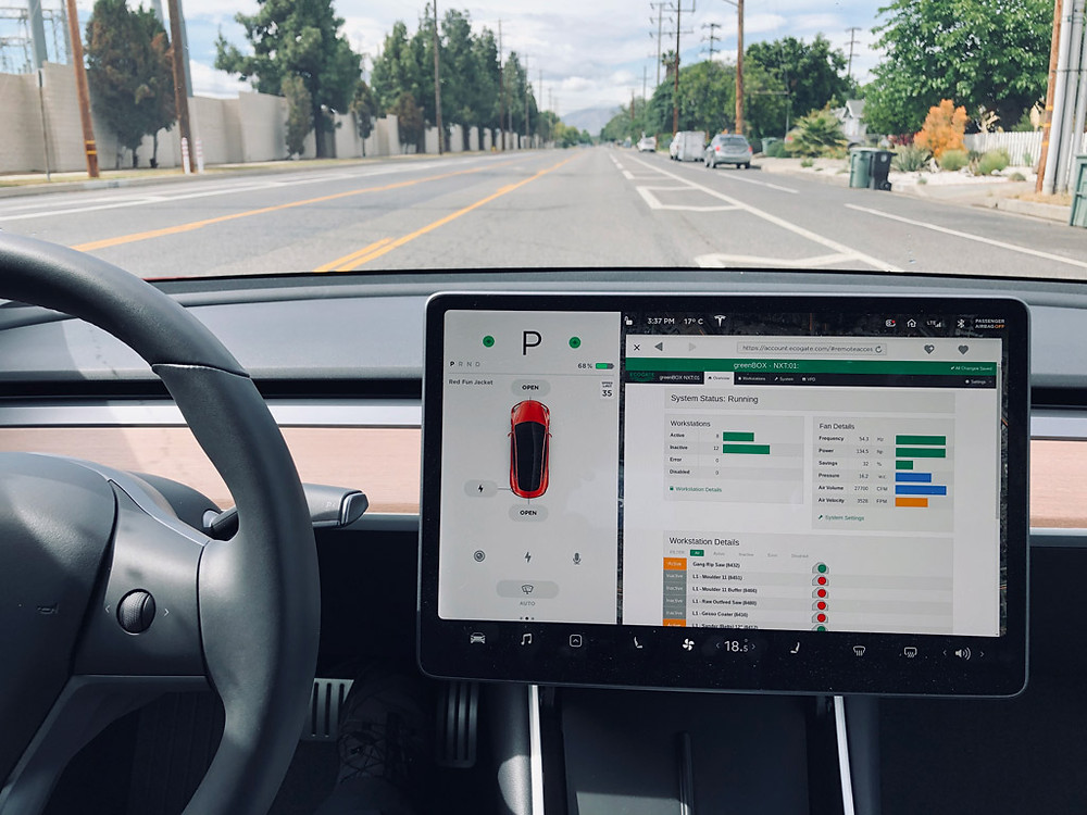 Ecogate remote access on Tesla display