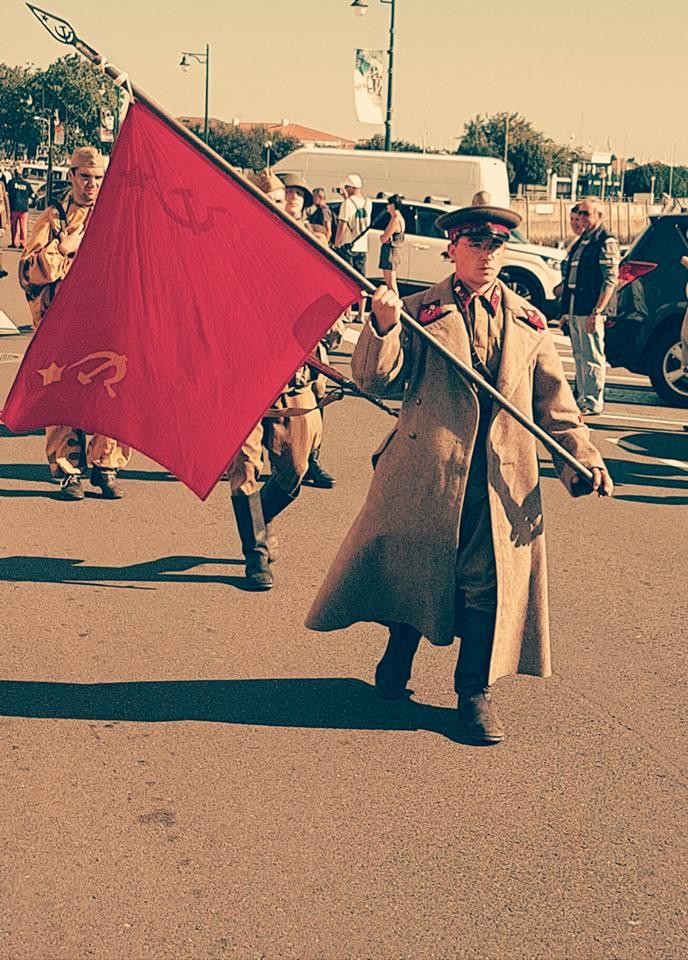 Défilé des troupes soviétiques