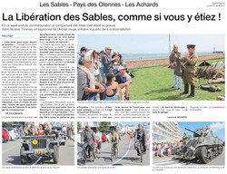 Article Ouest France du 21 août 2017