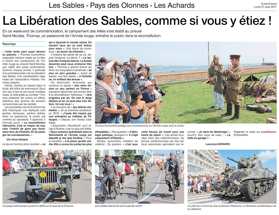 Ouest France - 21 août 2017