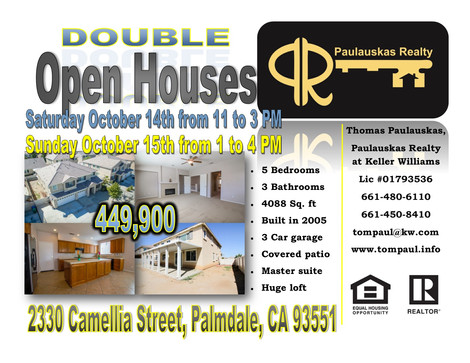 Another Double Open House Weekend