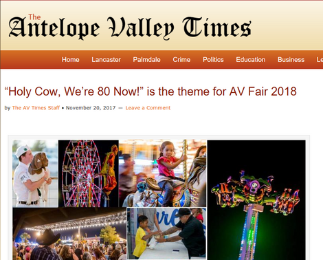 Antelope Valley Fair has turned 80! Congrats!