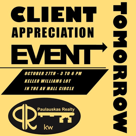 CLIENT EVENT TOMORROW!