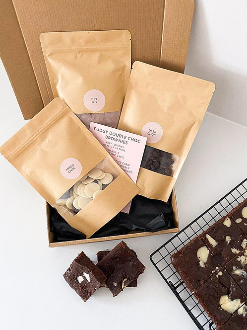 DOUBLE CHOC BROWNIE BAKING KIT