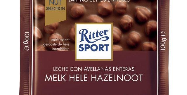 Ritter Sport Chocolate con Leche con Avellanas 100 gramos