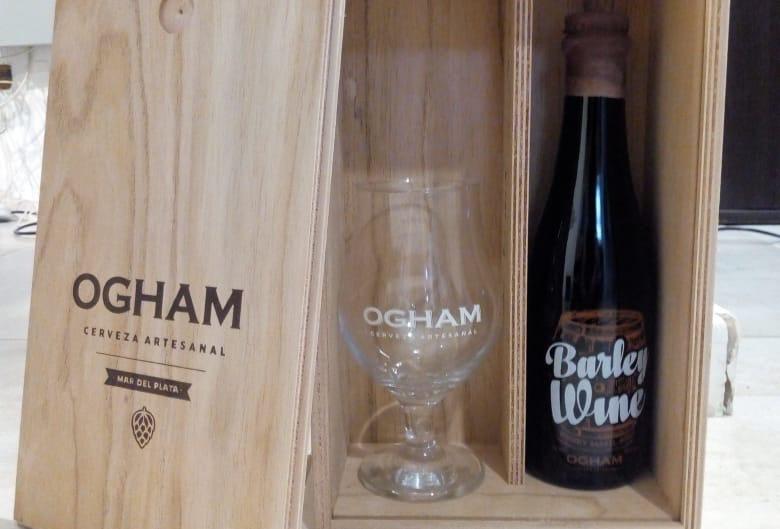 Ogham Barley Wine Porron 375cc + Copa en Estuche de Madera