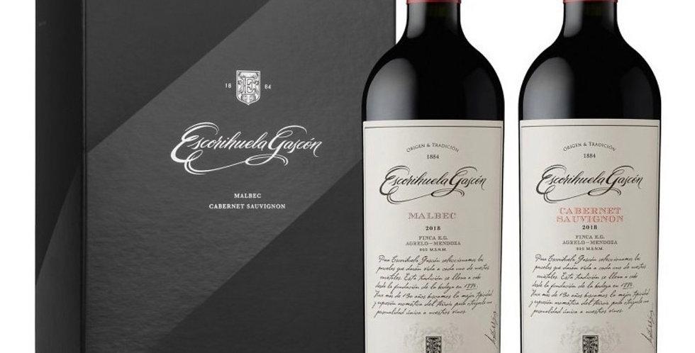 Escorihuela Gascon Estuche x 2 ud Malbec y Cabernet Sauvignon 750cc