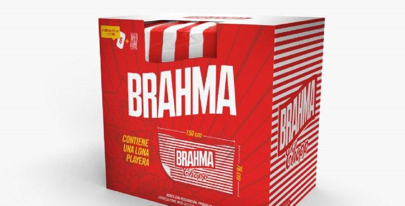 Gift Pack Brahma Lona 1,50 x 0,76cm + six pack lata 473cc