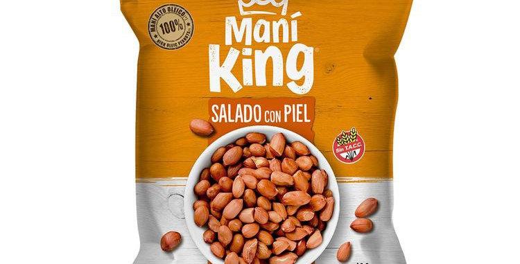 Mani Frito Salado Con Piel King 120 Gramos
