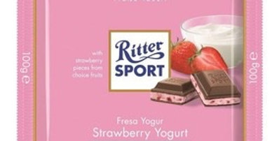 Ritter Sport Chocolate Yogurth Frutilla 100 gramos
