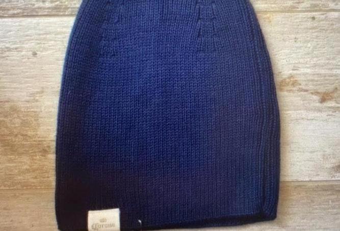 Gorro Lana Ecológico Color Azul Marca Corona