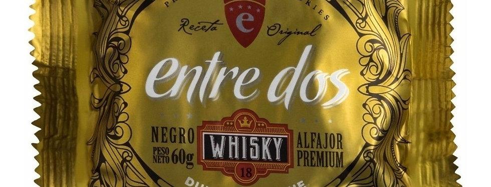Alfajor Negro con Dulce de Leche al Whisky Entre Dos 60 Gramos
