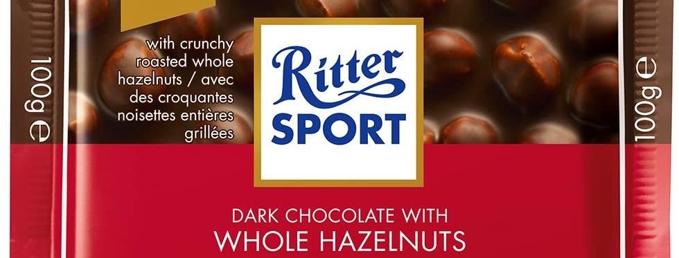 Ritter Sport Chocolate Negro con Avellanas 100 gramos