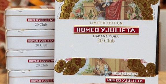 Romeo y Julieta Club Edicion Limitada Caja x 20 unidades