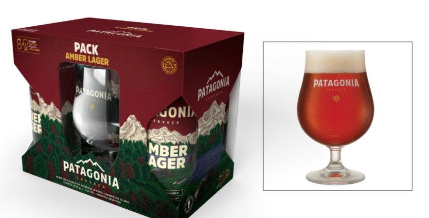 Gift Pack Patagonia 4 Latas Patagonia Amber Lager + Copa Tulipa