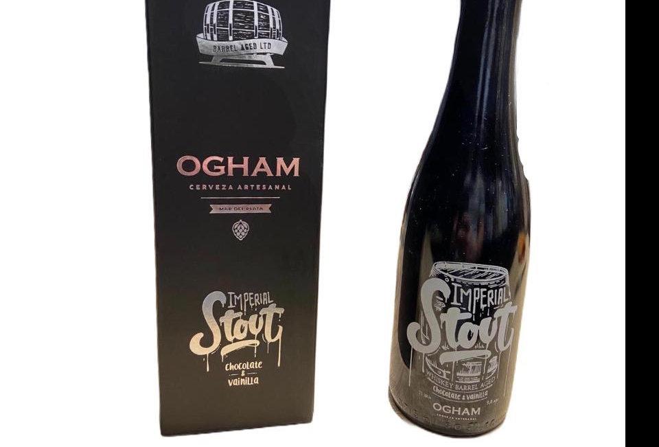 Ogham Imperial Stout Chocolate y Vainilla Porron Estuche