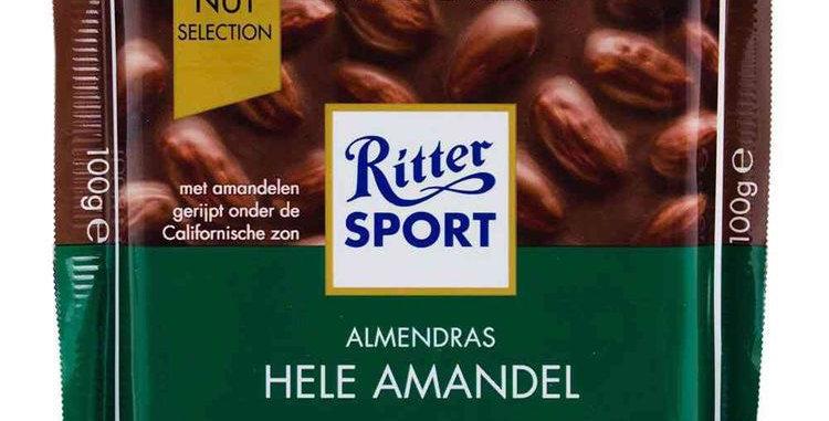 Ritter Sport Chocolate con Almendras 100 gramos