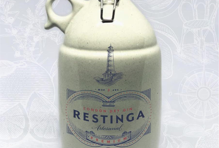Restinga London Dry en Botellón Cerámico 1,5 Litros