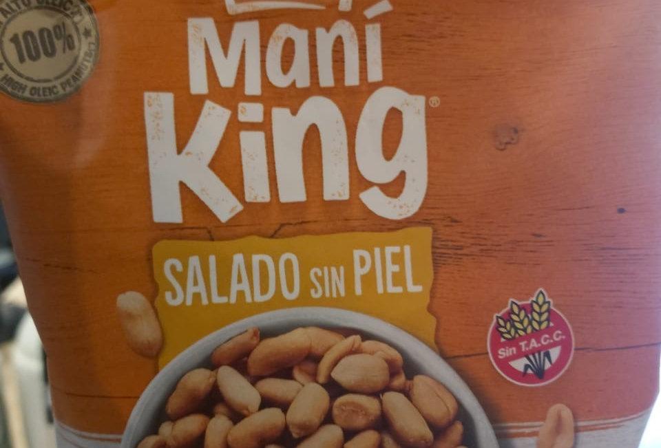Mani Frito Salado Sin Piel King 120 Gramos