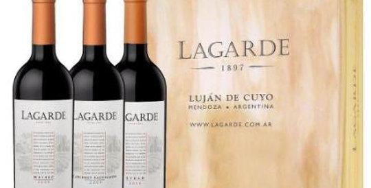 Lagarde Estuche x 3 UD 750cc Blend, Malbec y Cabernet Sauvignon