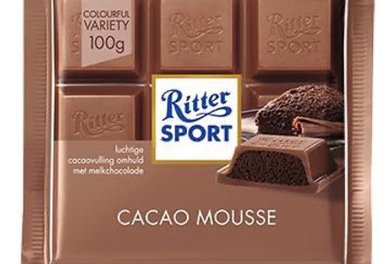 Ritter Sport Chocolate Relleno con Mousse 100 gramos
