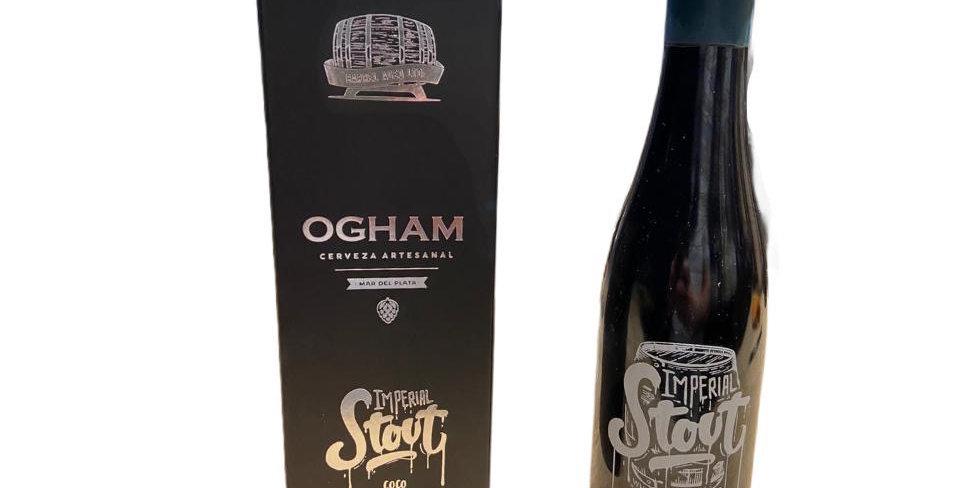 Ogham Imperial Stout Coco y Vainilla Porron Estuche