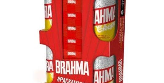 Gift Pack Brahma 4 Latas de Brahma Lata 473cc + Jenga de Madera