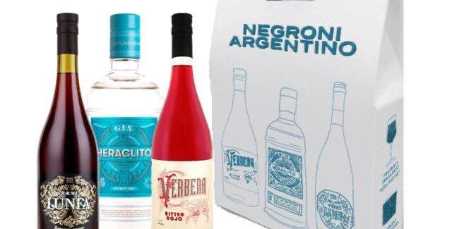 Negroni Argentino Gin Heraclito, Vermu Lunfa y Bitter Verbena