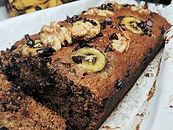 Choco Banana Walnut Bread