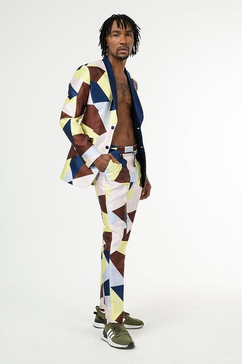 Asymmetric Two-Piece Single-Breasted Blazer Suit
