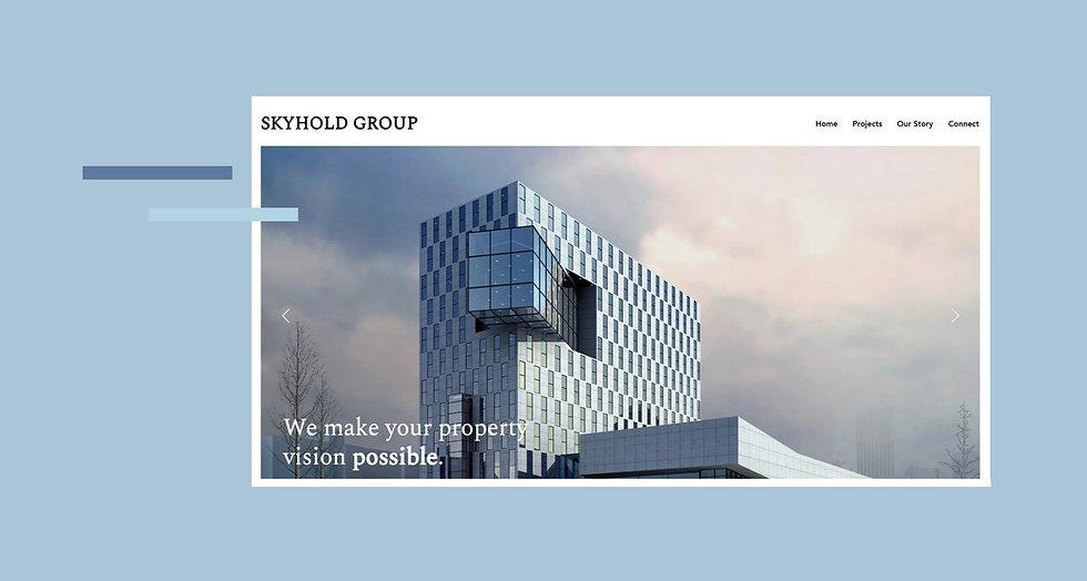 Skyhold Property Corporate Branding Website