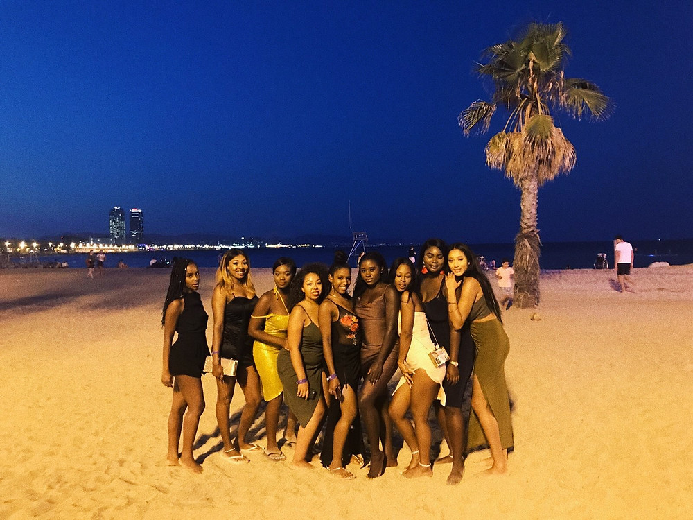 Girls Trip To Barcelona Beach
