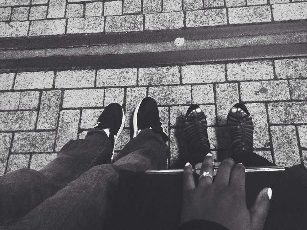 Fashion blogger date night shoes shot