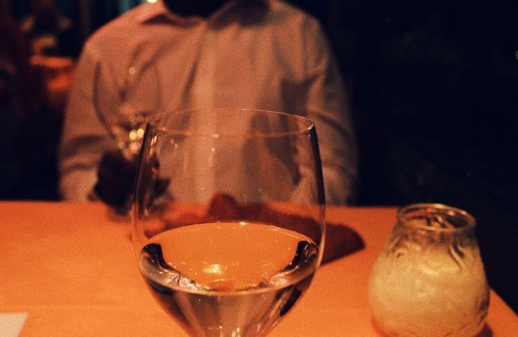 boyfriend and girlfriend at dinner venice