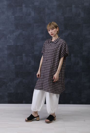 ■TOPS  Linen frenchsleeve shirt