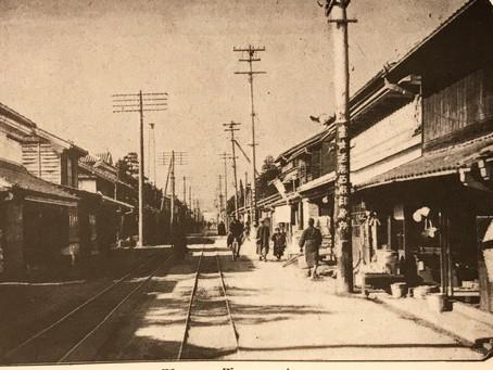 富士馬車鉄道が写る、富士郡吉原町の写真