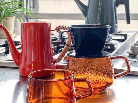コーヒー器具。月兎やKINTOカリタ富士ホーローなど
