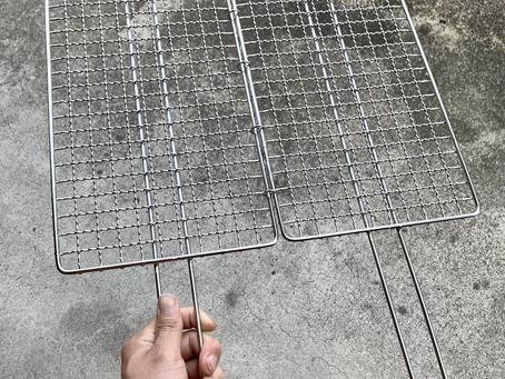 オーダーメイドの合わせ焼き網を納品させていただきました