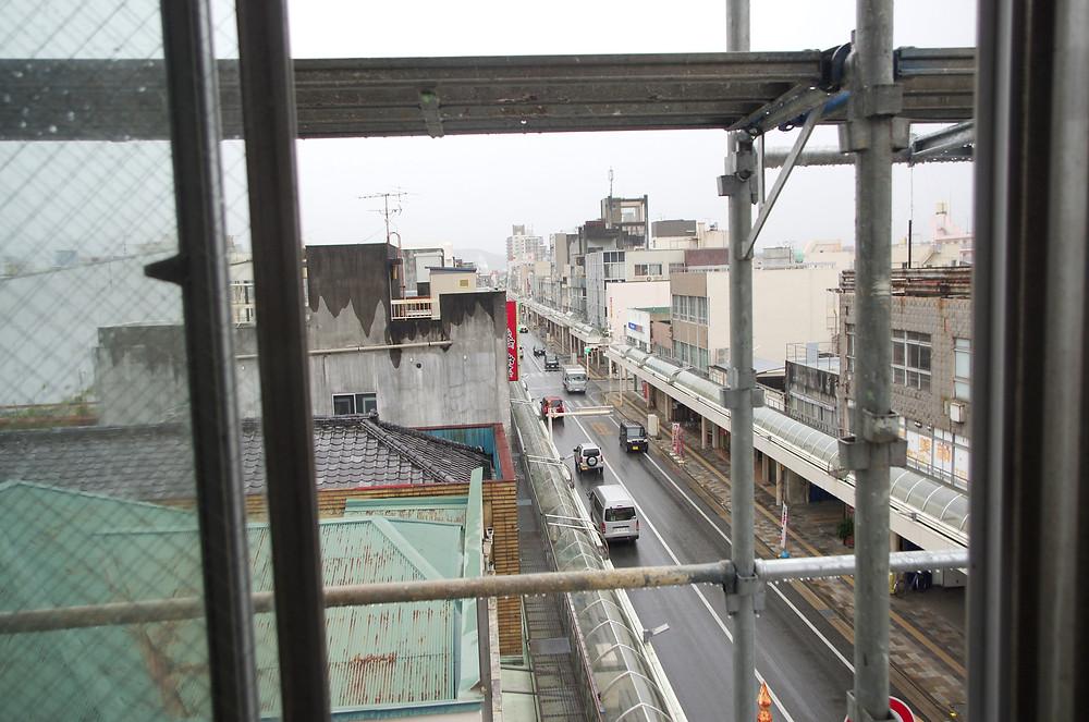 富士市吉原角田ビルからの眺め