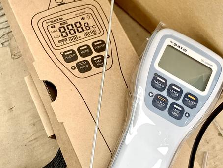 防水型セパレート式中心温度計(極細センサー2mm)を納品させていただきました