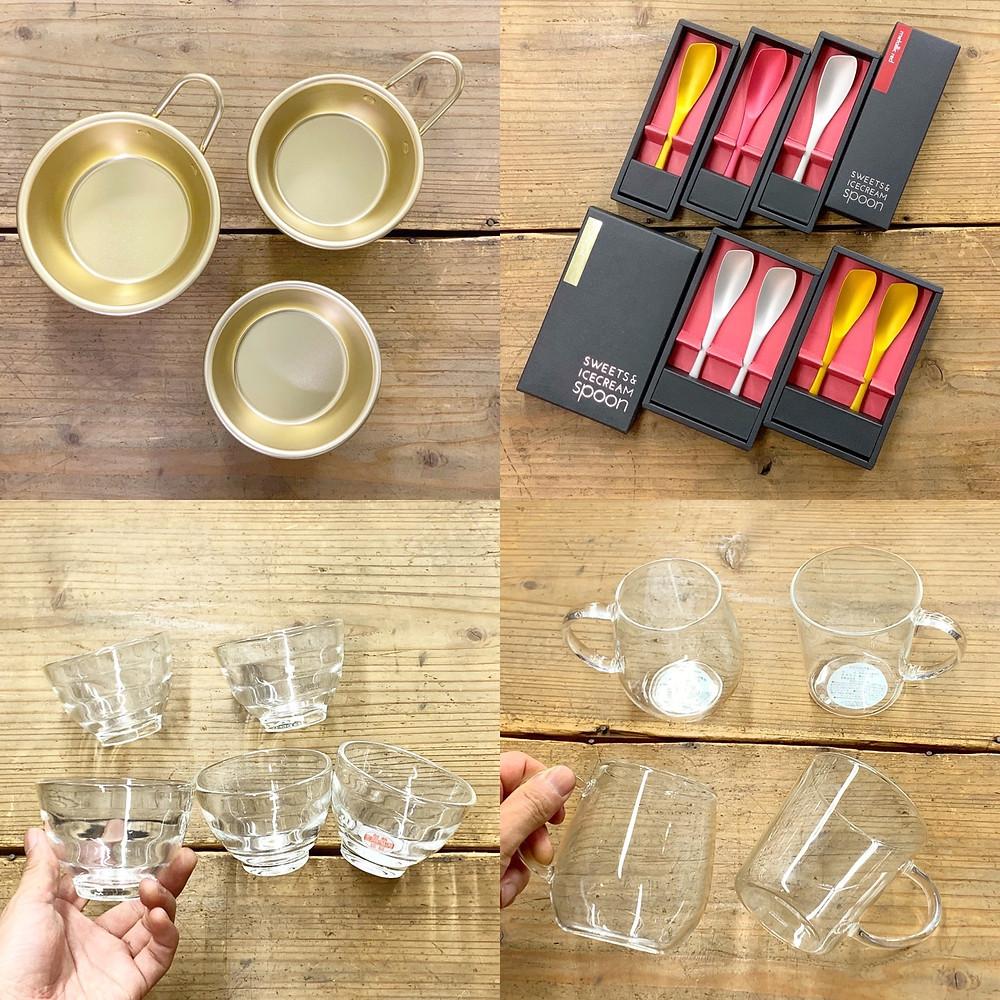 キト暮ラスカ暮らし市場5内藤金物店のマッコリカップとグラス