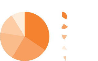 Pie chart data on most popular pages