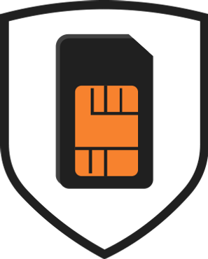 MyPlayer - MyConnect: illustration of a shield protecting the 4G simcard to illustrate it's security features